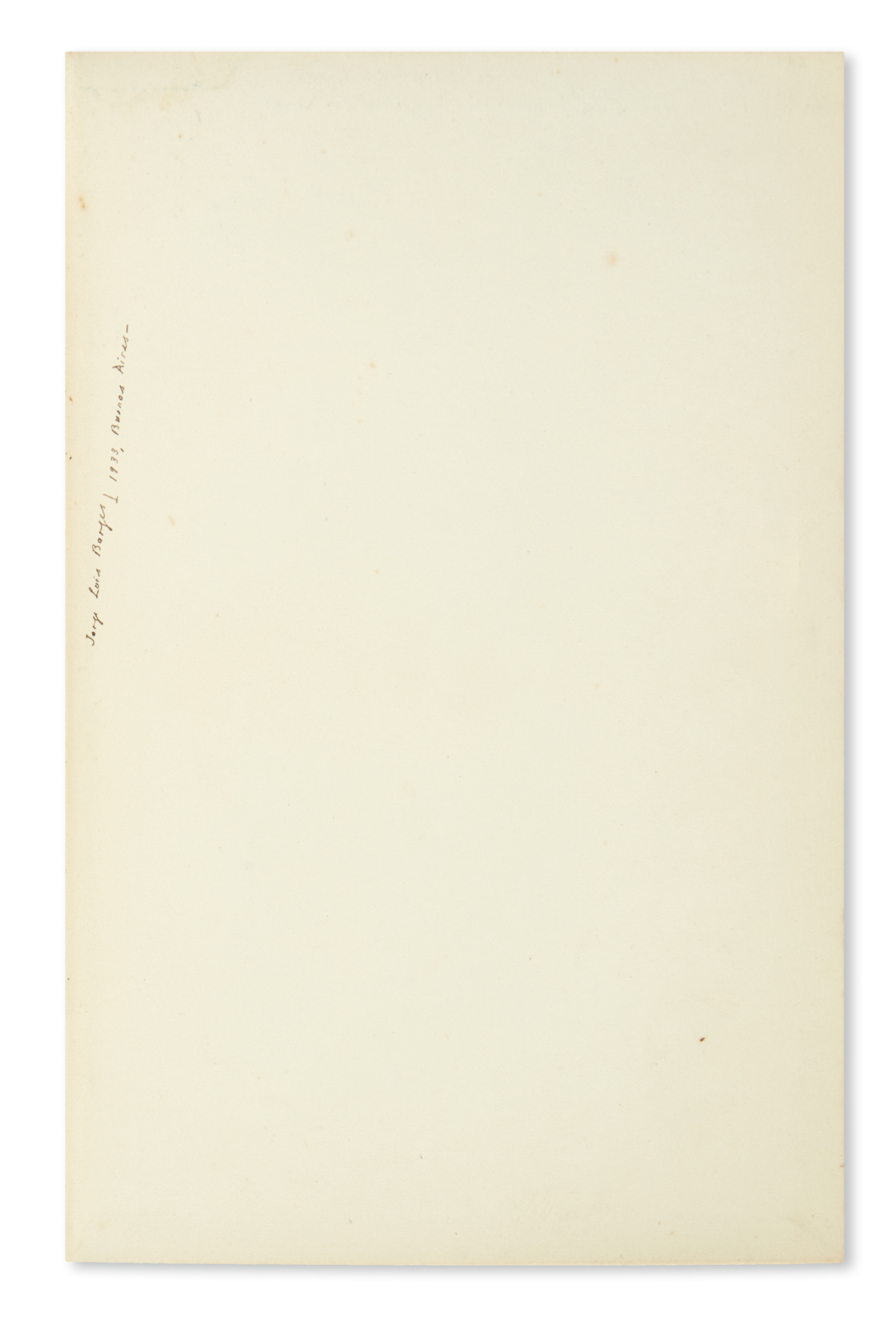 BORGES, JORGE LUIS. Two books, each Signed on the front free endpaper: Jack Bilbo. Carrying a Gun for Al Capone * Frederick Watson. A C