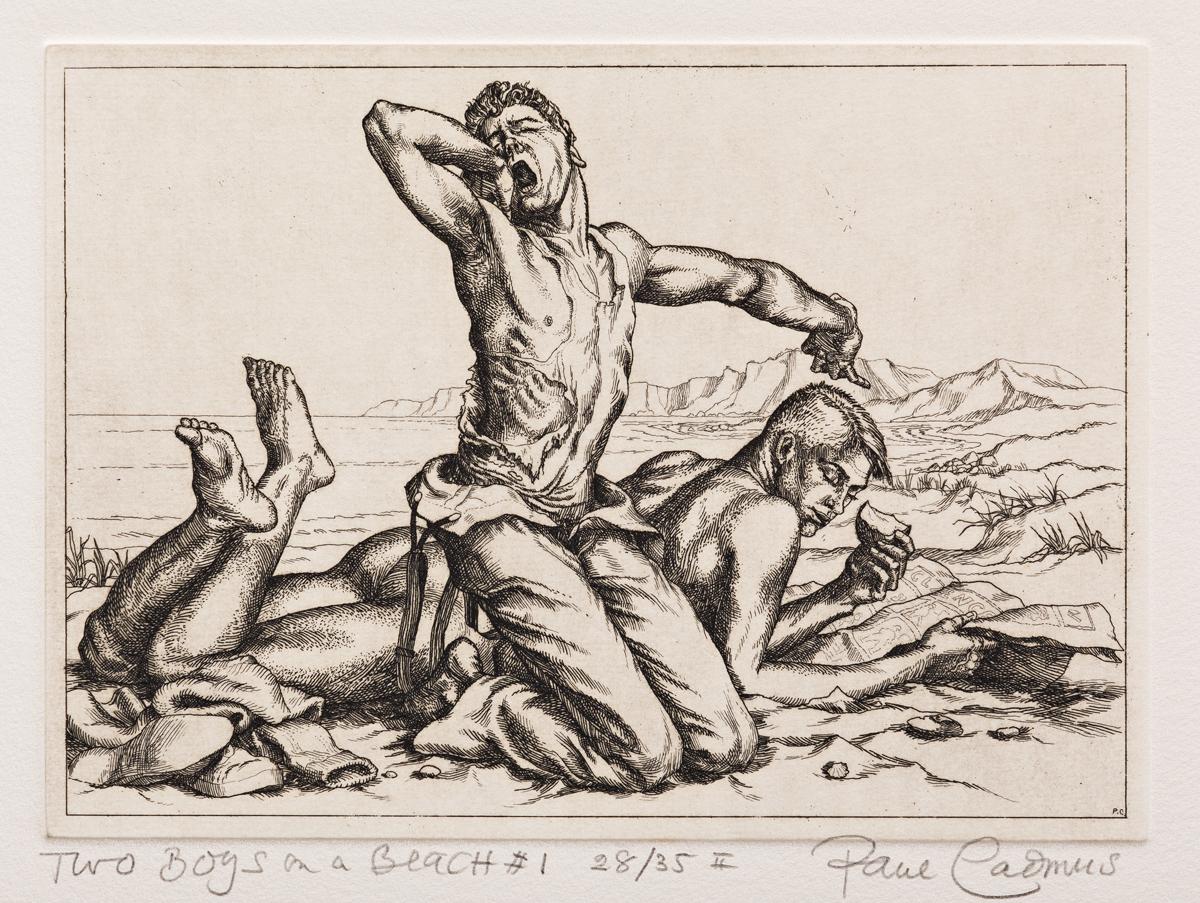 PAUL CADMUS (1904-1999) Two Boys on a Beach #1.