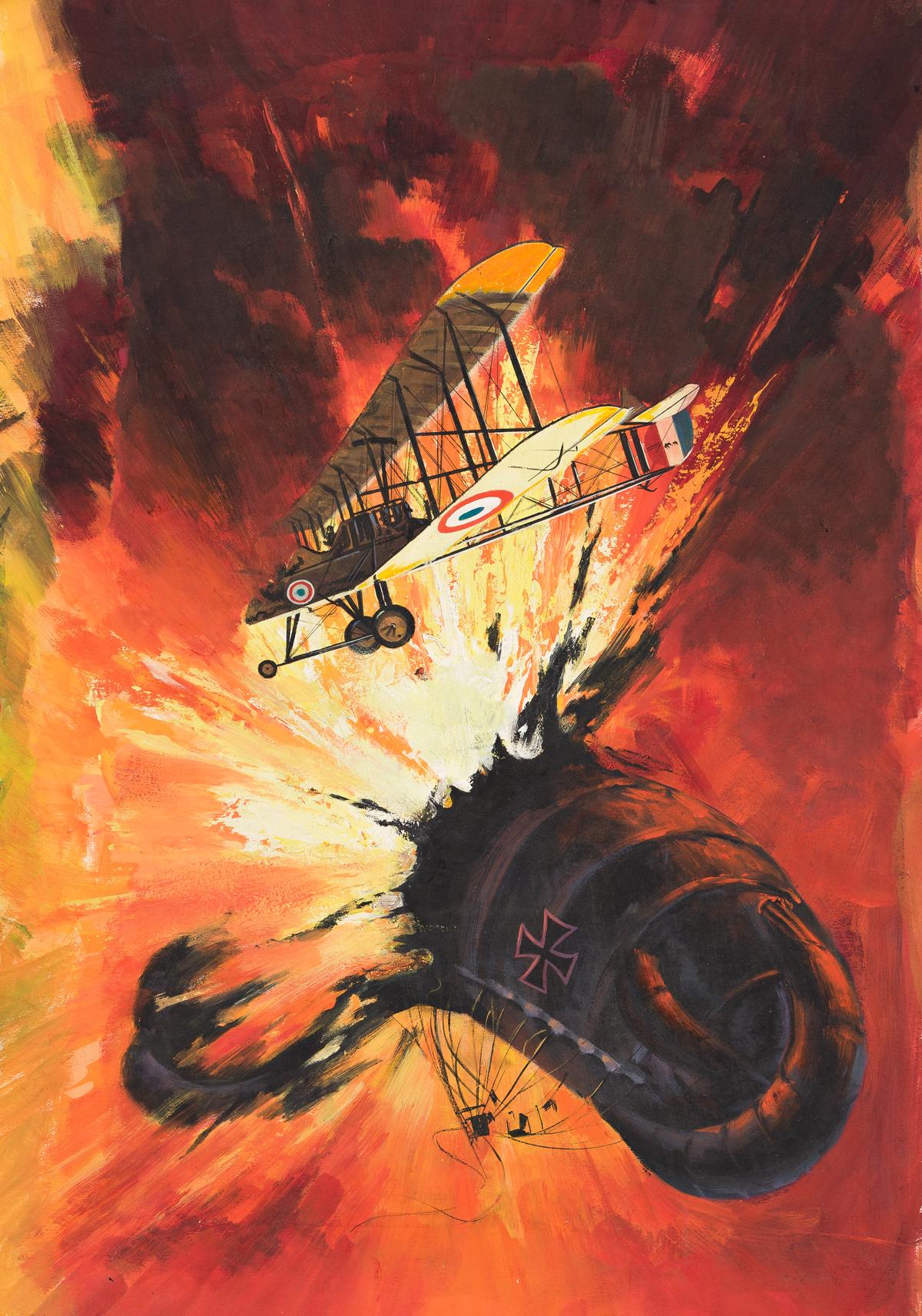 VICTOR PREZIO (1924-1976) Airwar #3. [PULP]