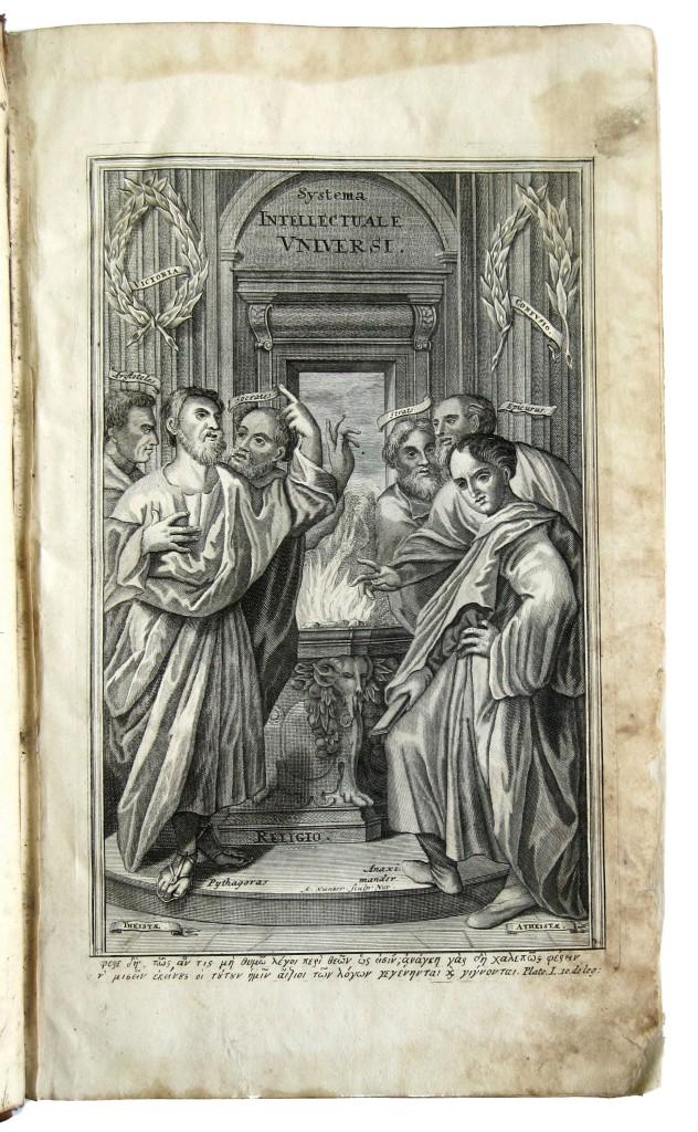 CUDWORTH, RALPH.  Systema intellectuale huius universi; seu, De veris naturae rerum originibus commentarii.  2 vols.  1733