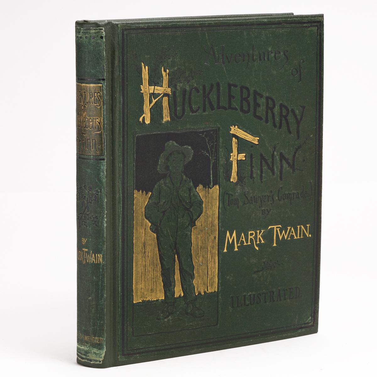 TWAIN, MARK. Adventures of Huckleberry Finn.