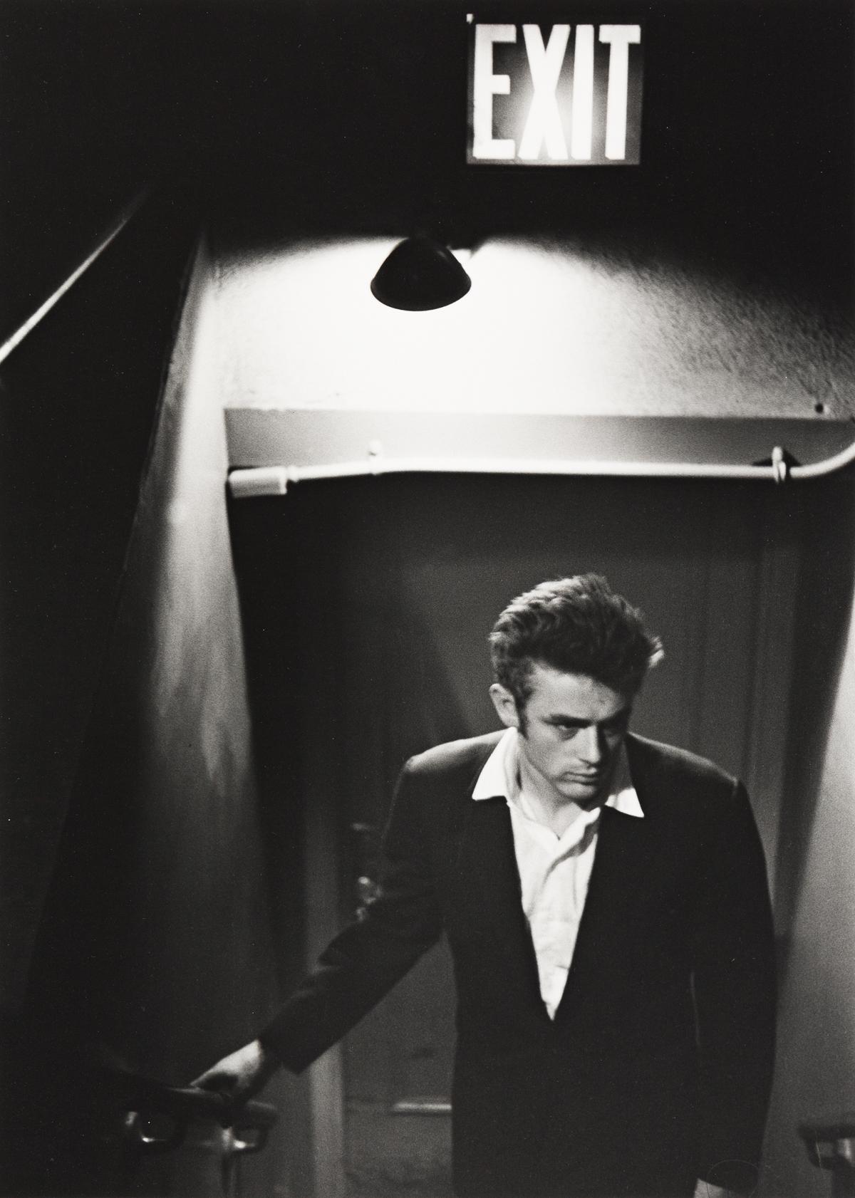 ROY SCHATT (1909-2002) James Dean underneath an exit sign.