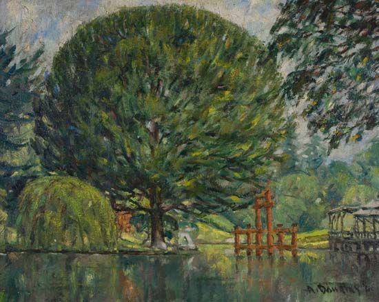 AARON DOUGLAS (1899 - 1979) The Japanese Hill-and-Pond Garden, the Brooklyn Botanical Garden.