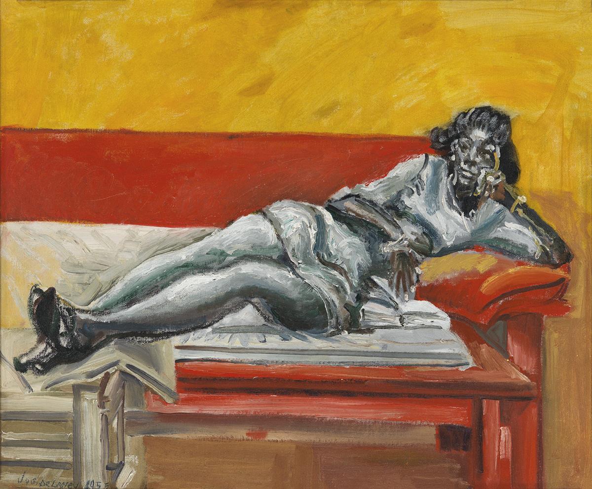 JOSEPH DELANEY (1904 - 1991) Untitled (Reclining Figure).