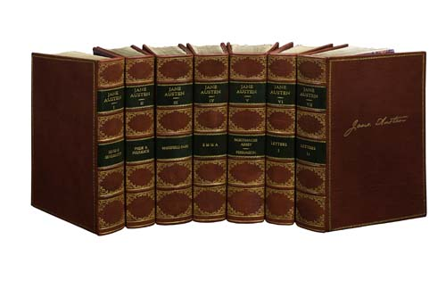 (SETS AND BINDINGS.) Austen, Jane. The Novels & Letters of Jane Austen.