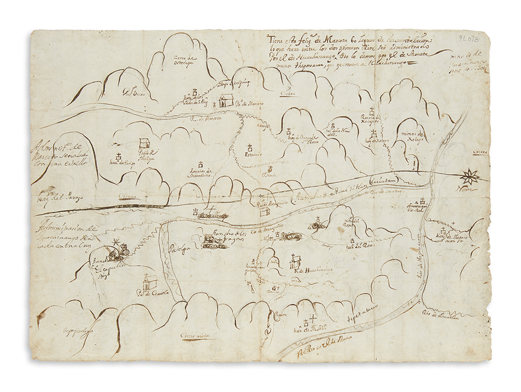 (MEXICO.) Manuscript map of part of Jalisco.