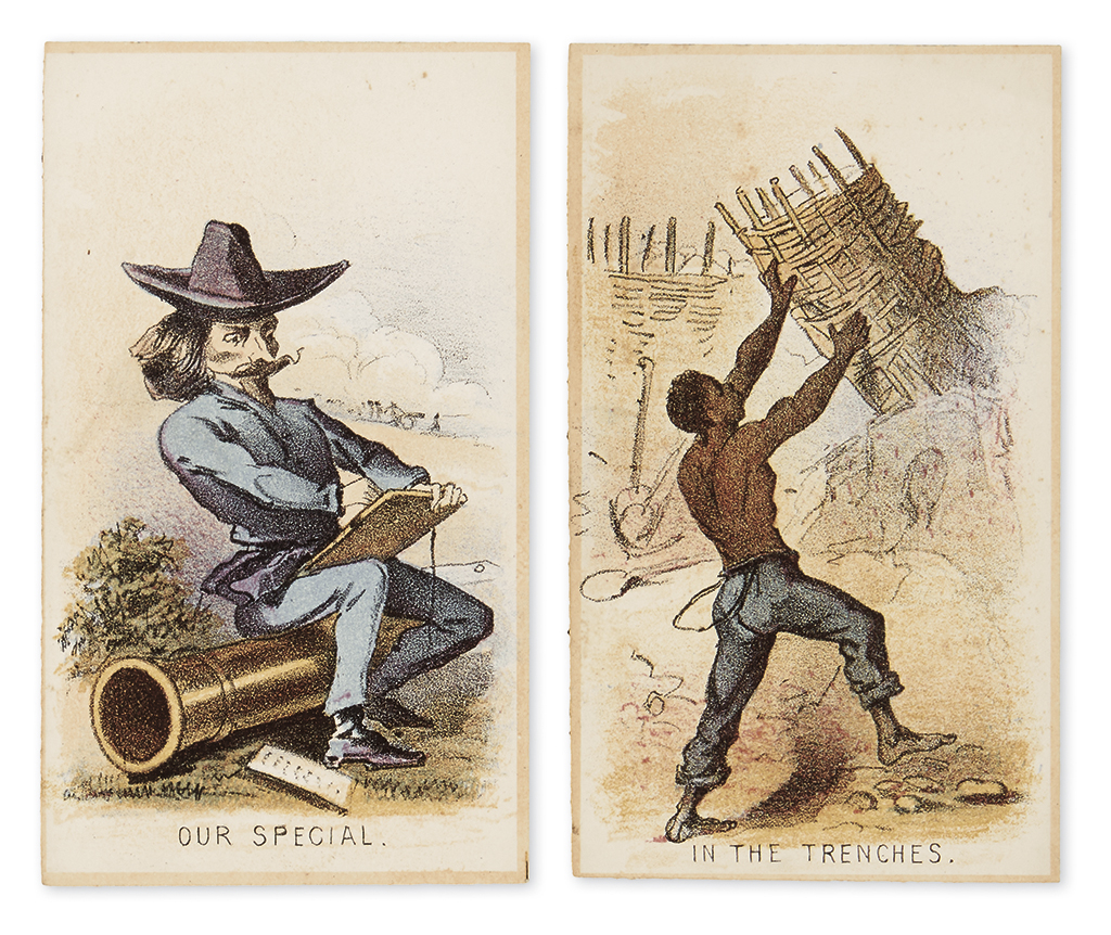 (CIVIL WAR--PRINTS.) [Homer, Winslow; artist and lithographer.] A full set of 12 cards from his Life in Camp, Part 2 series.