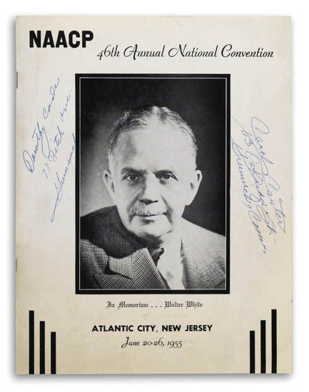 (CIVIL RIGHTS.) EVERS, MEDGAR. NAACP 46th Annual Convention Booklet signed by medgar evers and others, together with the official NAACP