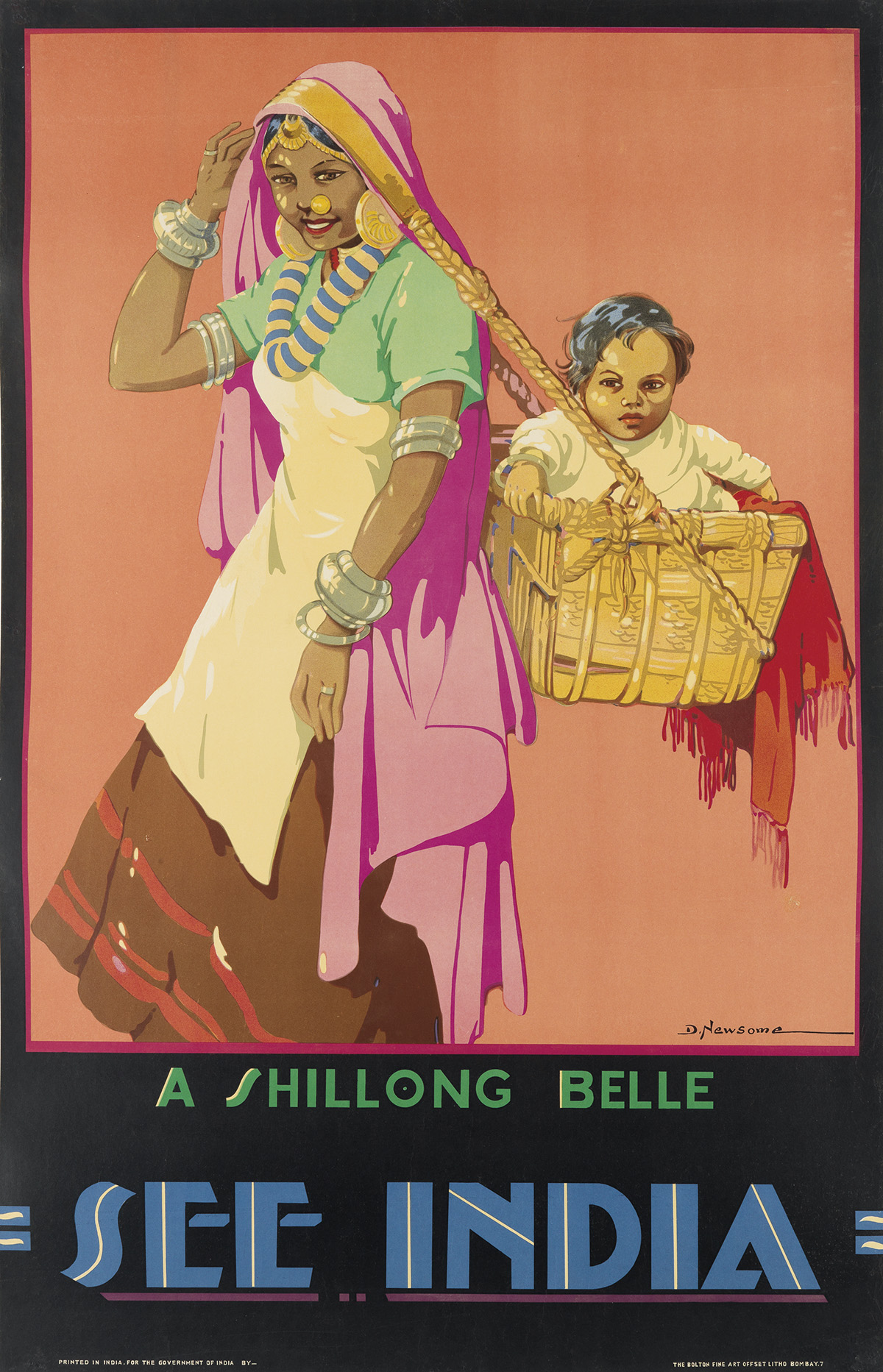 DOROTHY-NEWSOME-(CIRCA-1900-1980)-A-SHILLONG-BELLE--SEE-INDI
