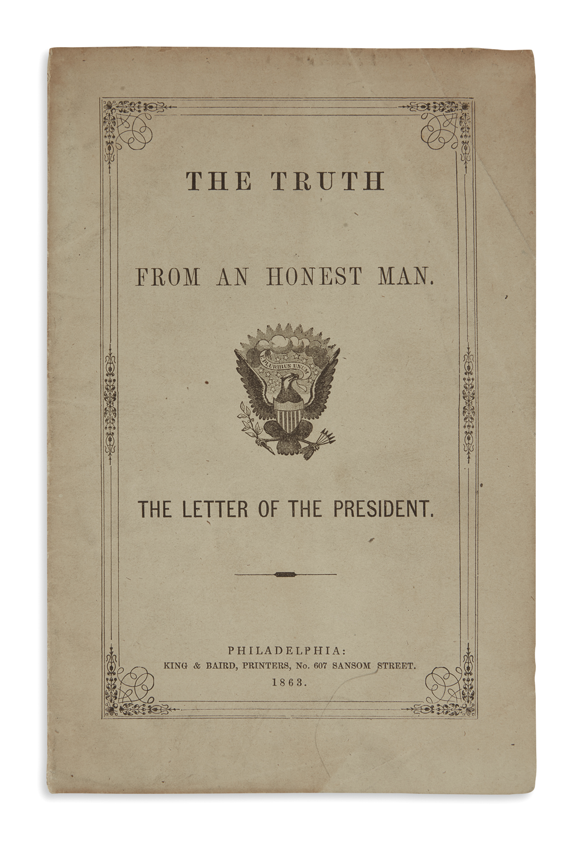 (BOOKS-AND-PAMPHLETS)-President-Lincolns-Views-An-Important-
