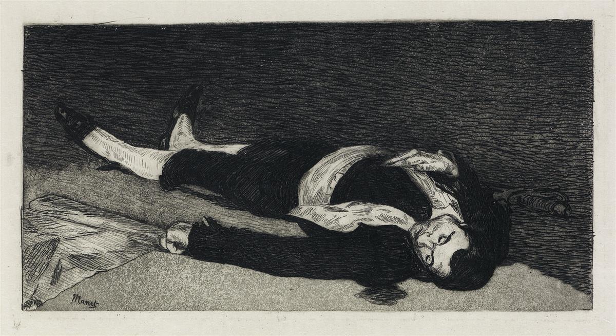 ÉDOUARD MANET Le Torero Mort.