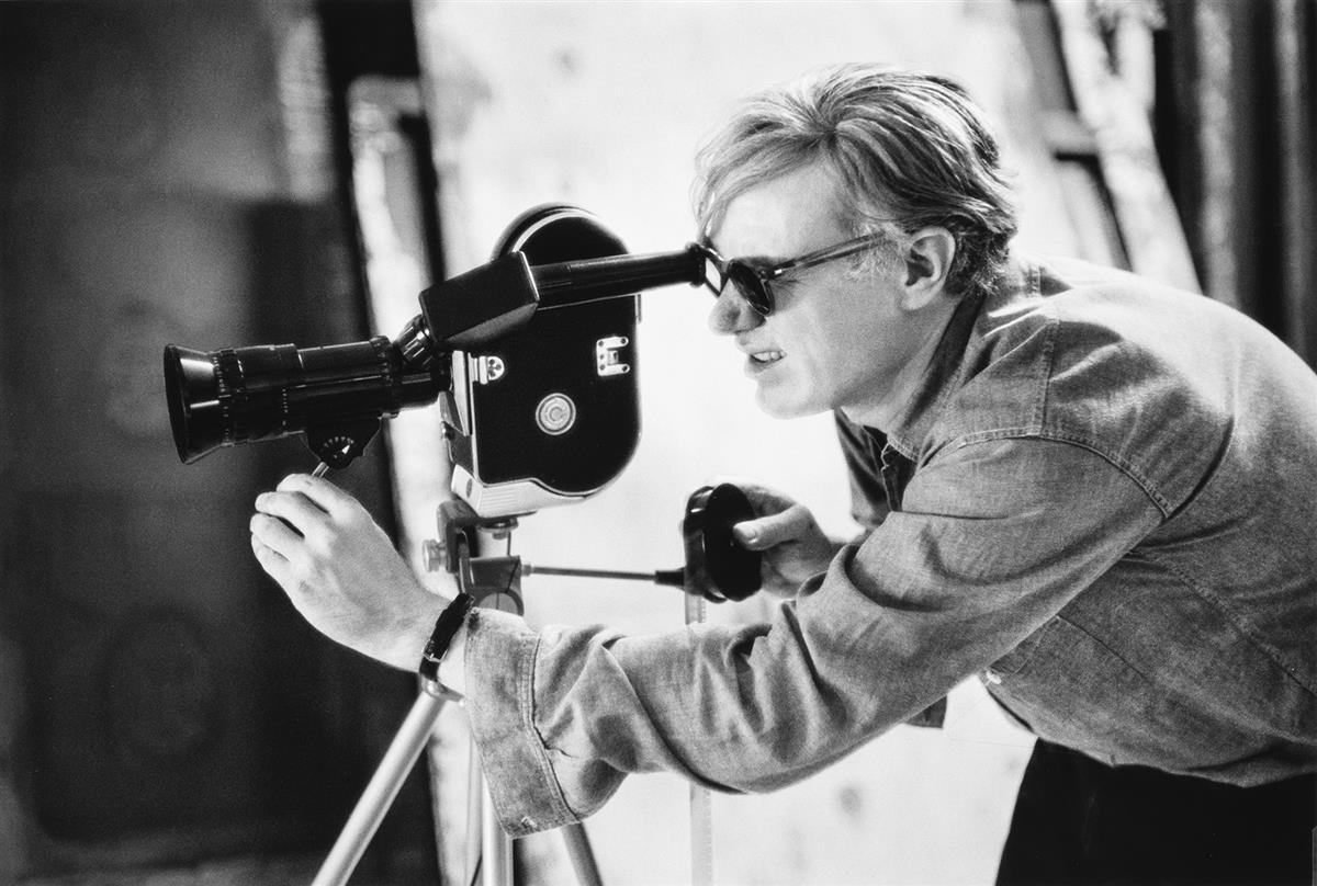FRED-W-MCDARRAH-(1926-2007)-Andy-Warhol-filming-Taylor-Meads
