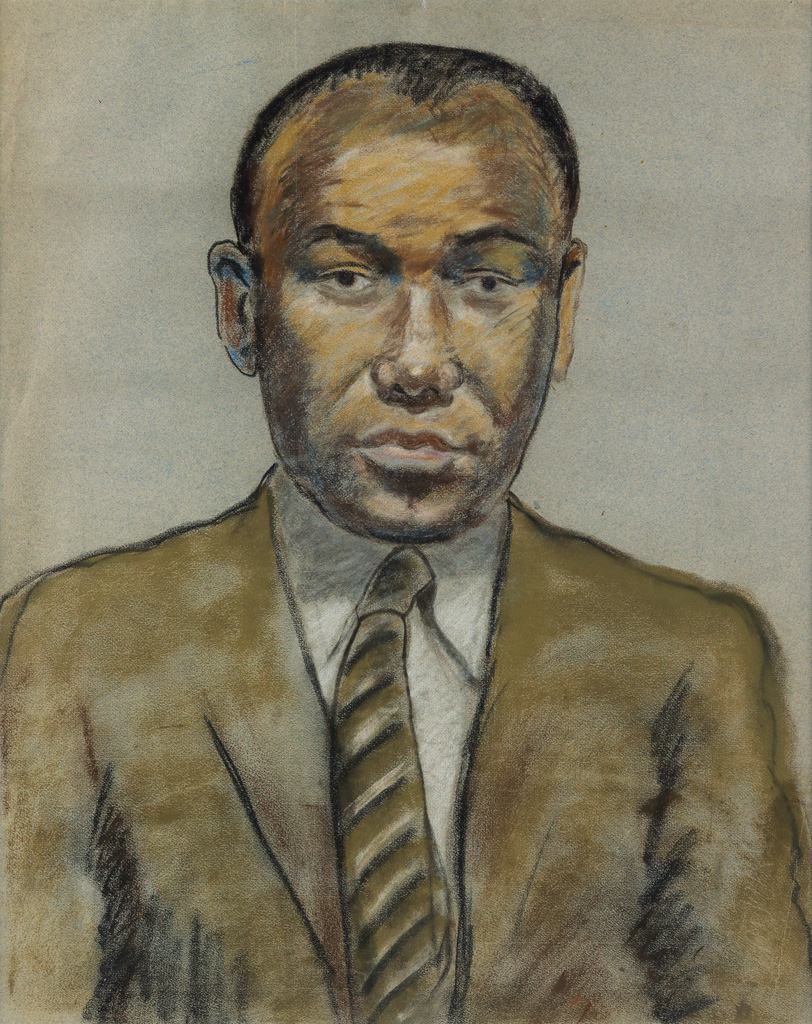 BEAUFORD DELANEY (1901 - 1979) Untitled (Portrait of a Young Man in Suit and Tie).
