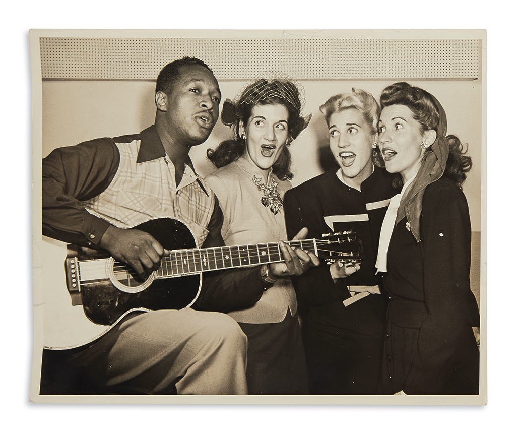 (MUSIC.) Archive of photographs taken at Manhattans famous integrated Café Society nightclub.