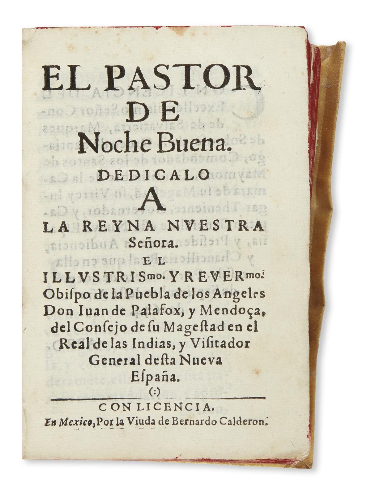 (MEXICAN-IMPRINT--1644)-Palafox-y-Mendoza-Juan-de-El-pastor-
