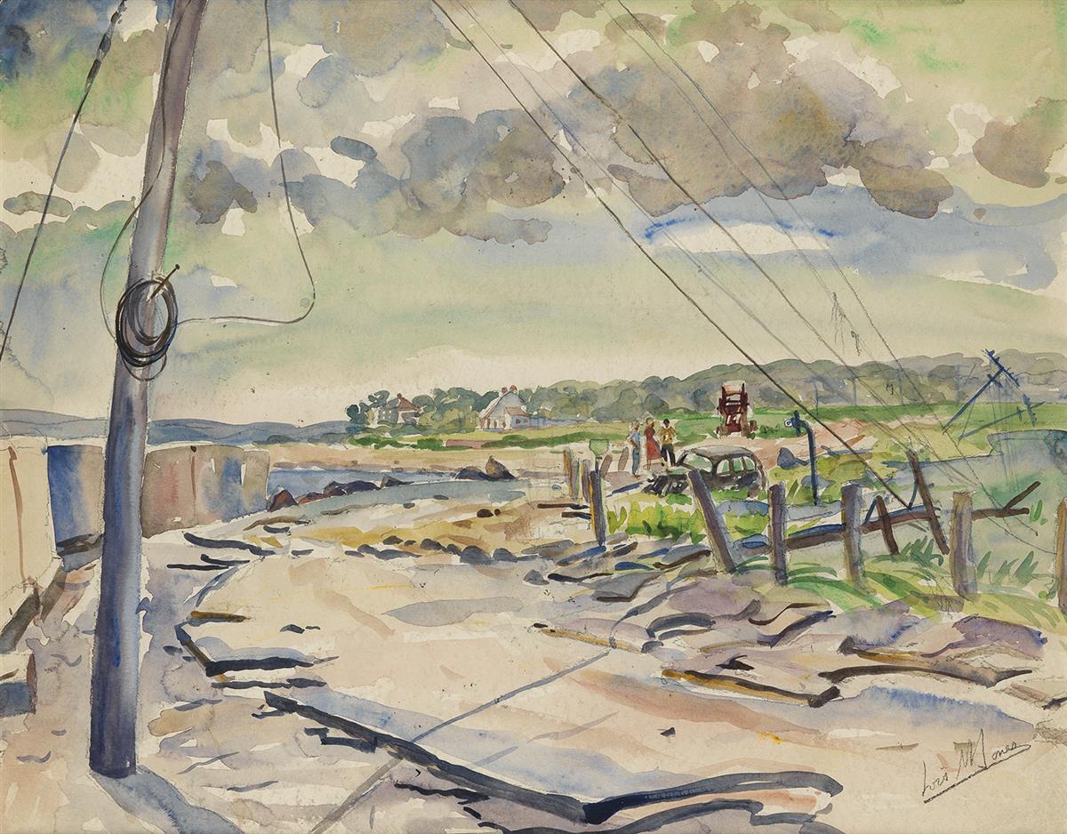 LOÏS MAILOU JONES (1905 - 1998) Coastal Road (Marthas Vineyard).