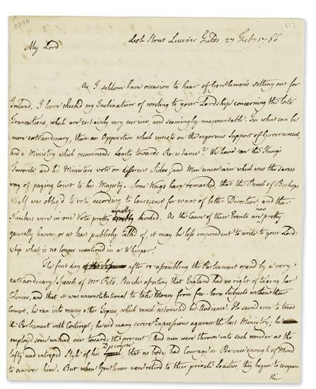HUME-DAVID-Autograph-Letter-Signed-to-the-Ambassador-of-Great-Britain-to-France-the-Earl-of-Hertford-(My-Lord)