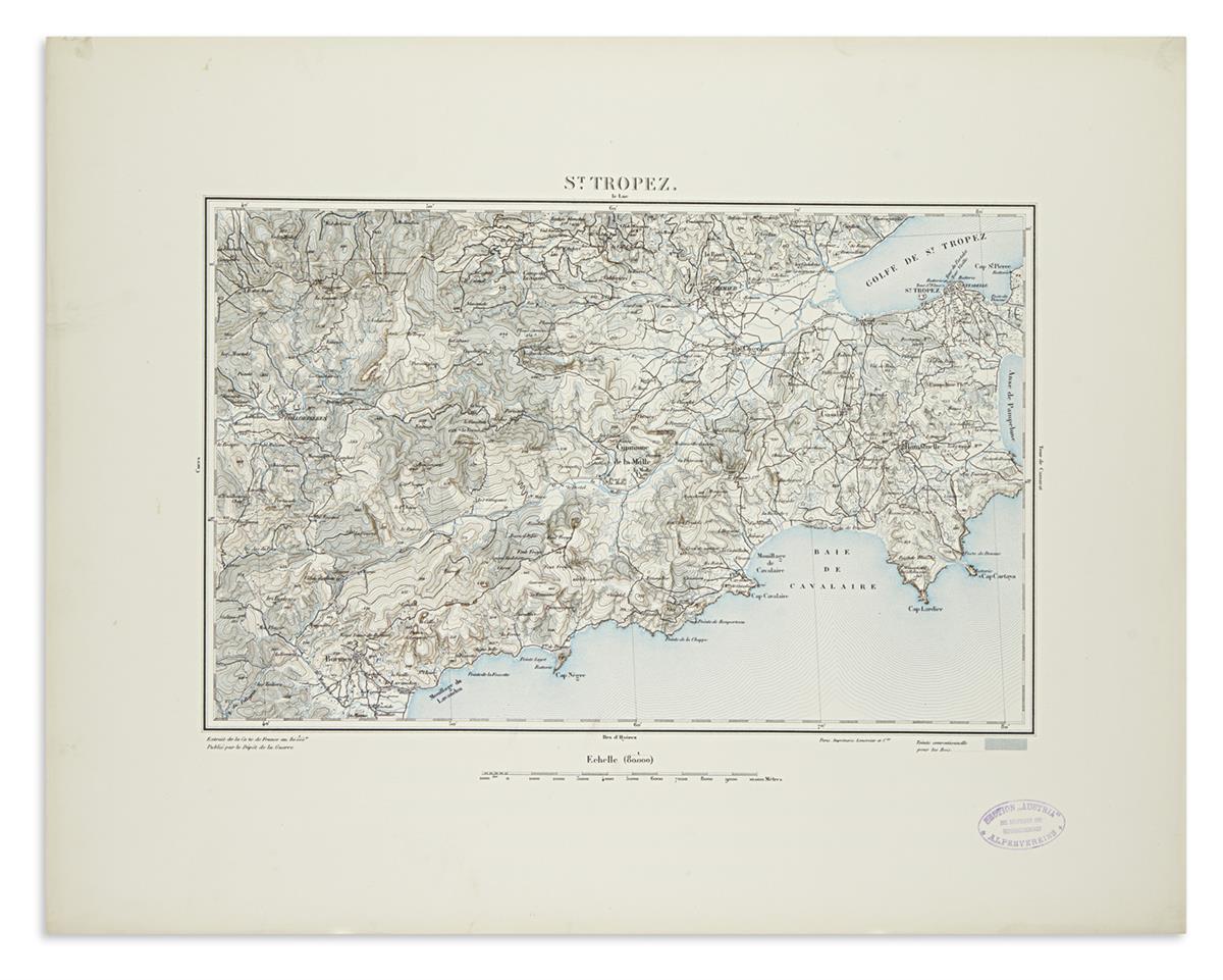 (FRENCH-ALPS)-Dépôt-de-la-Guerre-Karten-des-Alpenassius-vom-