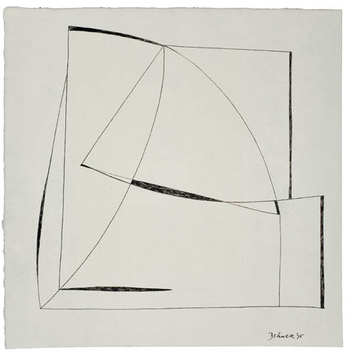 DOROTHY DEHNER Untitled (Abstract Composition).