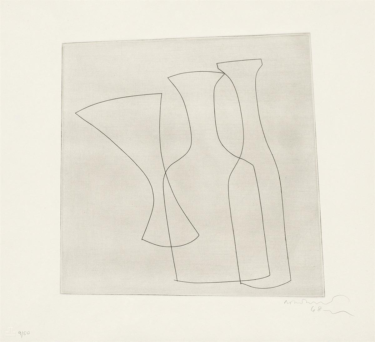 BEN-NICHOLSON-Two-Bottles-and-a-Glass