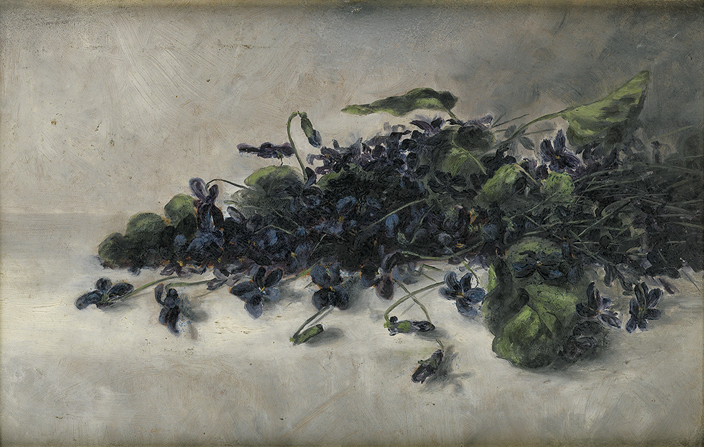 PAULINE POWELL BURNS (1876 - 1912) Violets.