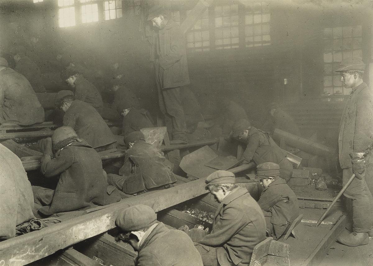 LEWIS W. HINE (1874-1940) Pennsylvania coal breakers (Breaker Boys).