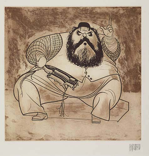 Zero Mostel as Tevye in Fiddler on the Roof.