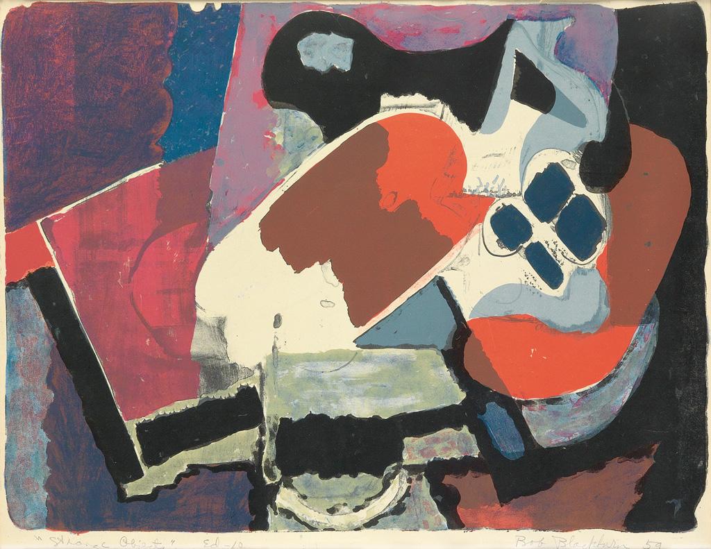 ROBERT-BLACKBURN-(1920---2003)-Strange-Objects