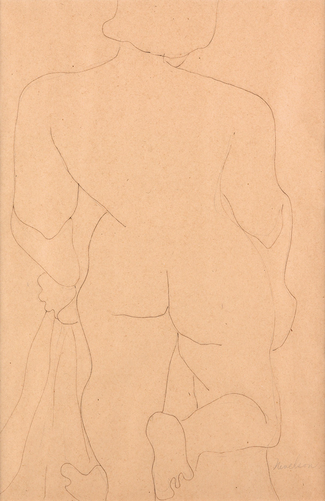 LOUISE NEVELSON Nude Study.