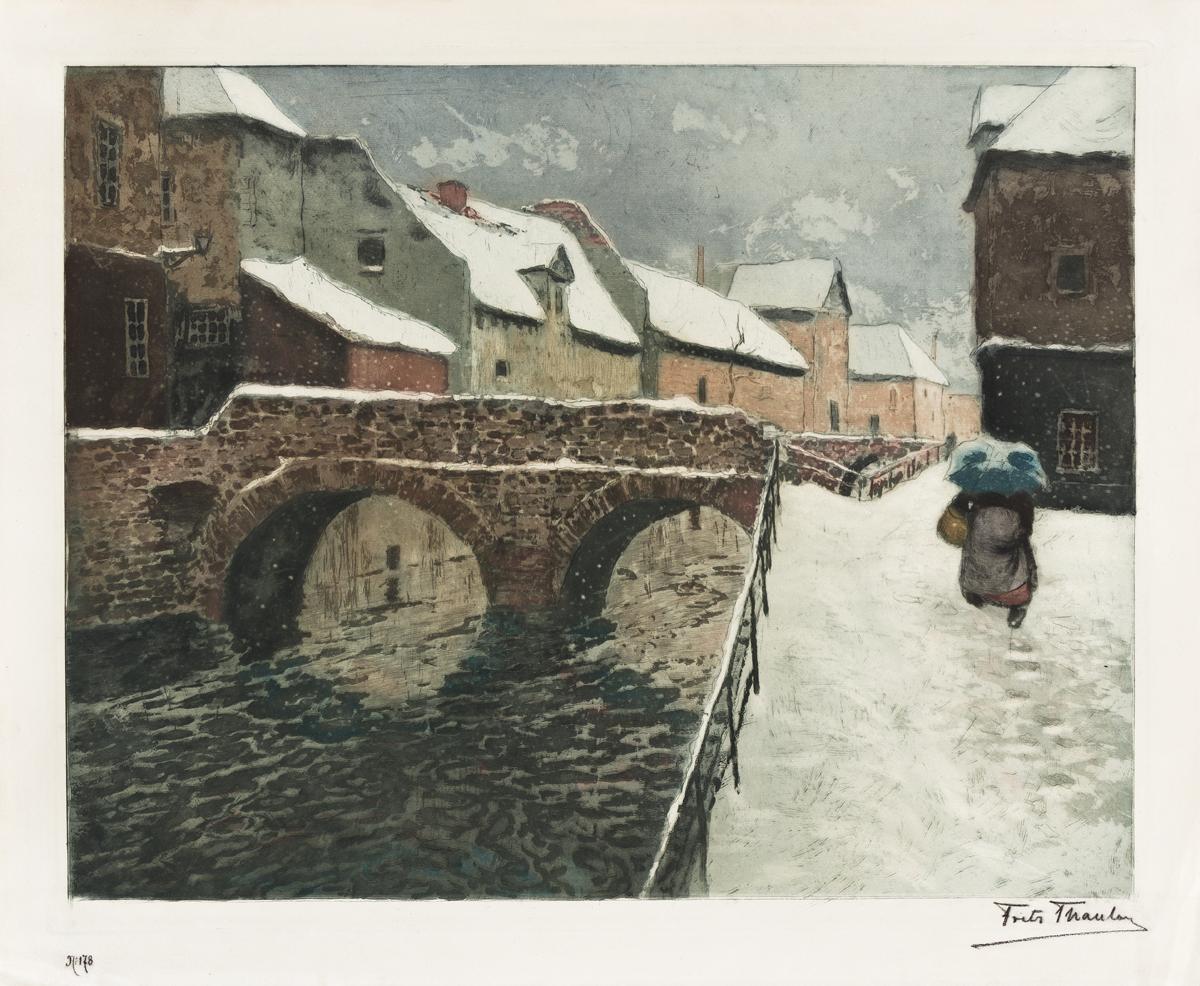 FRITS THAULOW Pont d'Amiens, sous la Neige.