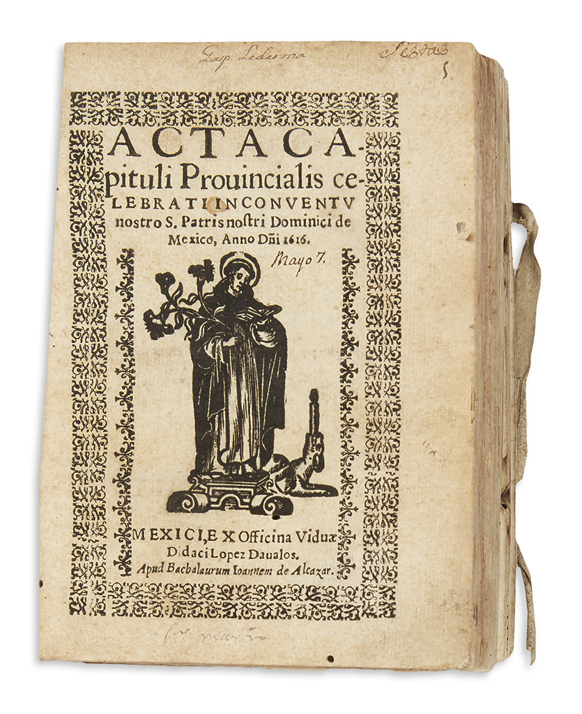 (MEXICAN IMPRINTS--1616.) Compilation of 30 editions of the manuals of the Dominican order in Mexico.