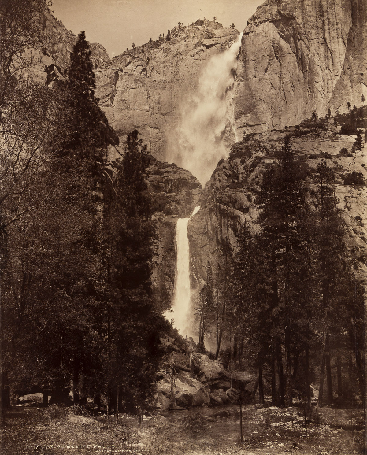 WILLIAM HENRY JACKSON (1843-1942) The Yosemite Falls.