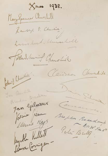CHURCHILL-WINSTON-Autograph-album-containing-over-300-signat