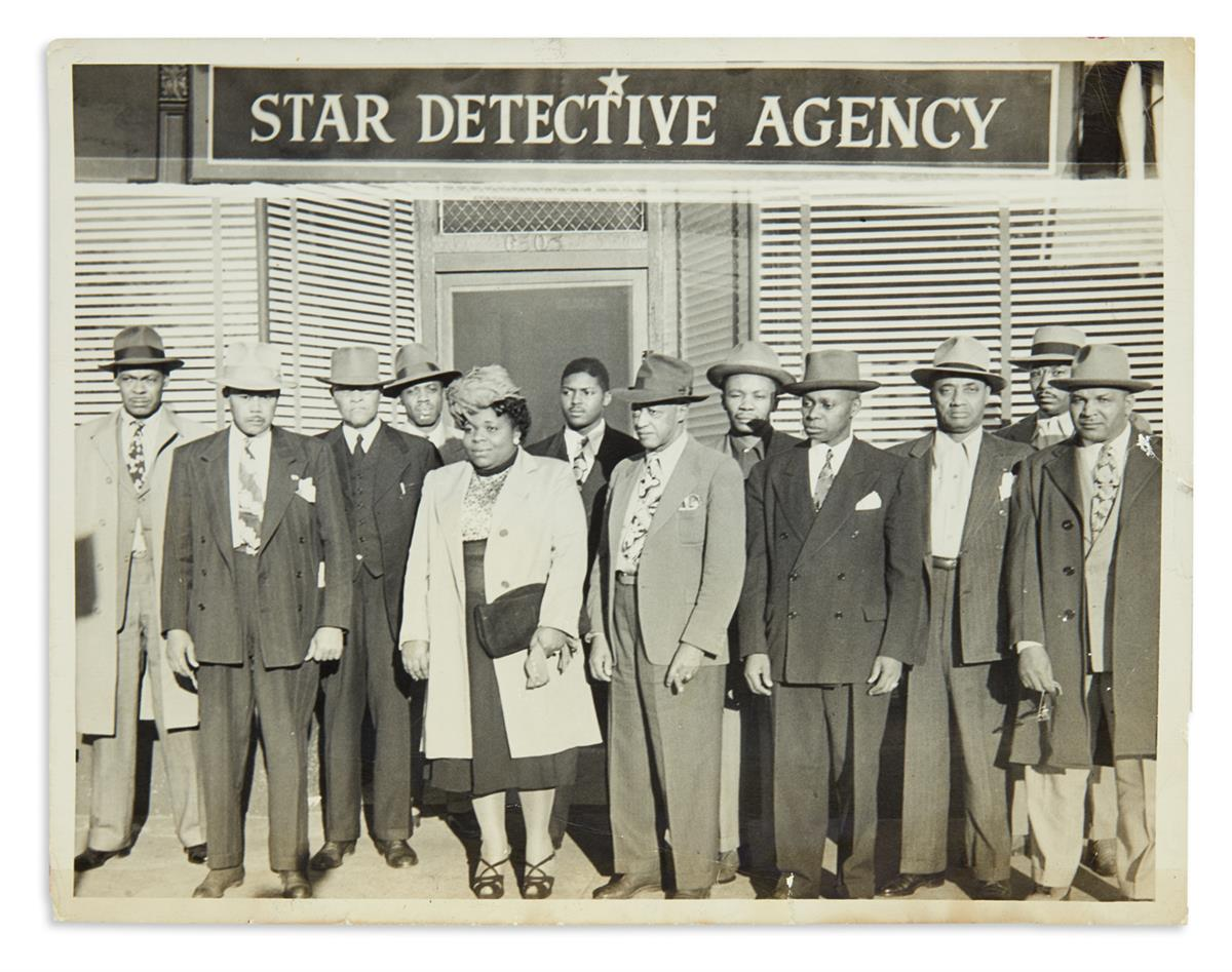 (BUSINESS.) Photograph of the pioneering African-American private detectives of the Star Detective Agency.