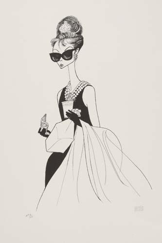 Breakfast at Tiffanys, I: featuring Audrey Hepburn.