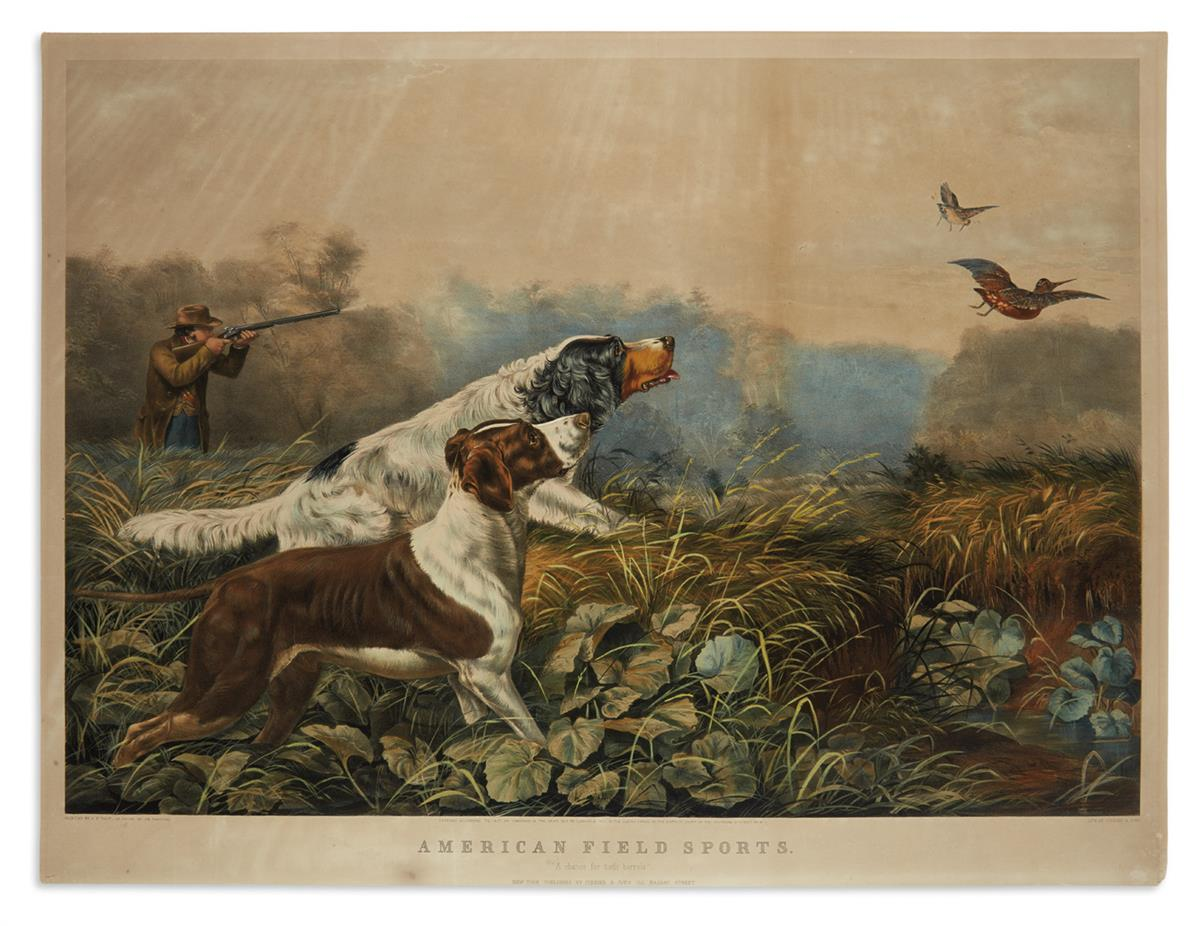CURRIER--IVES-American-Field-Sports-A-Chance-for-Both-Barrel