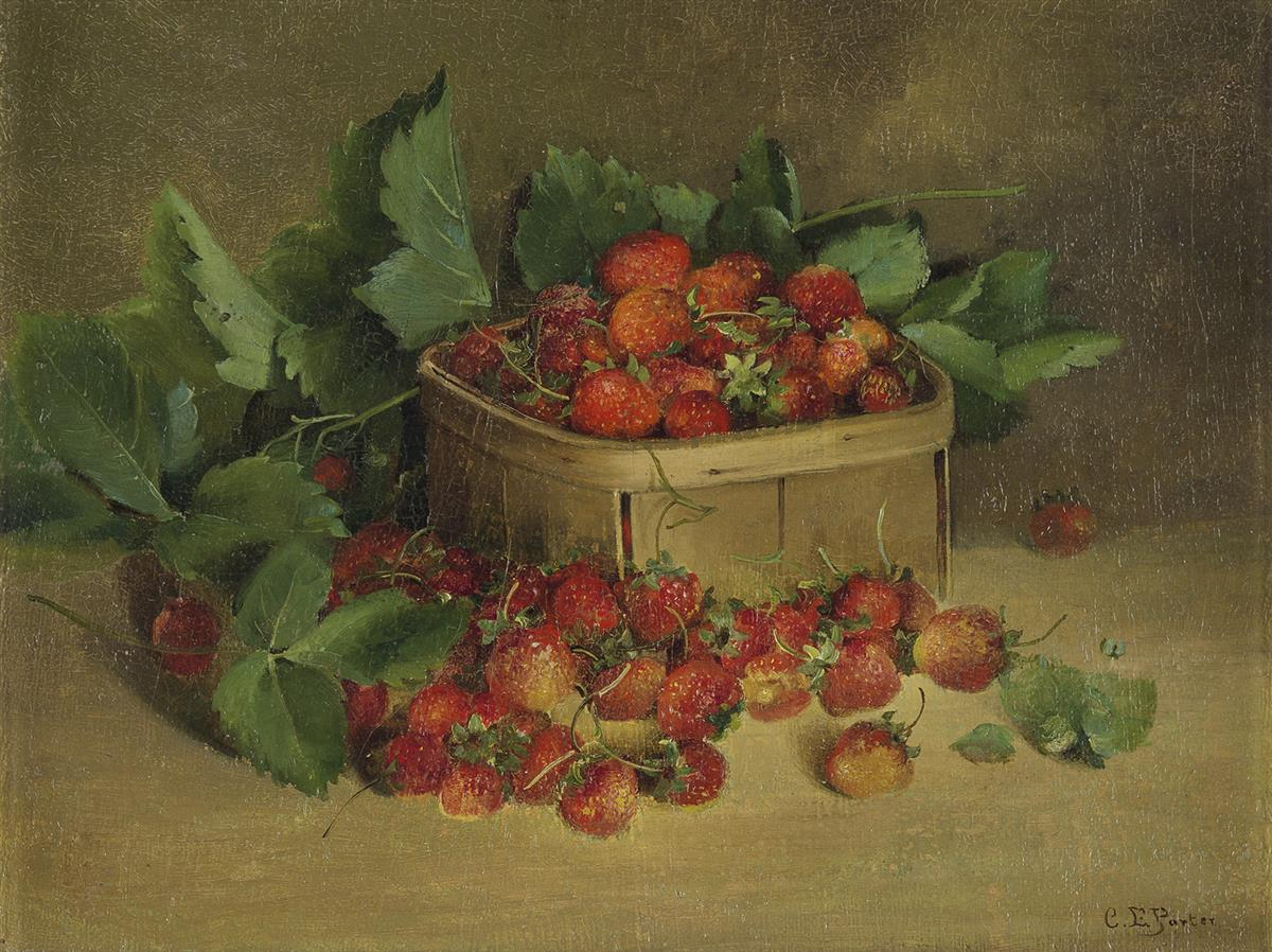 CHARLES-ETHAN-PORTER-(1847---1923)-Strawberries-in-a-Basket