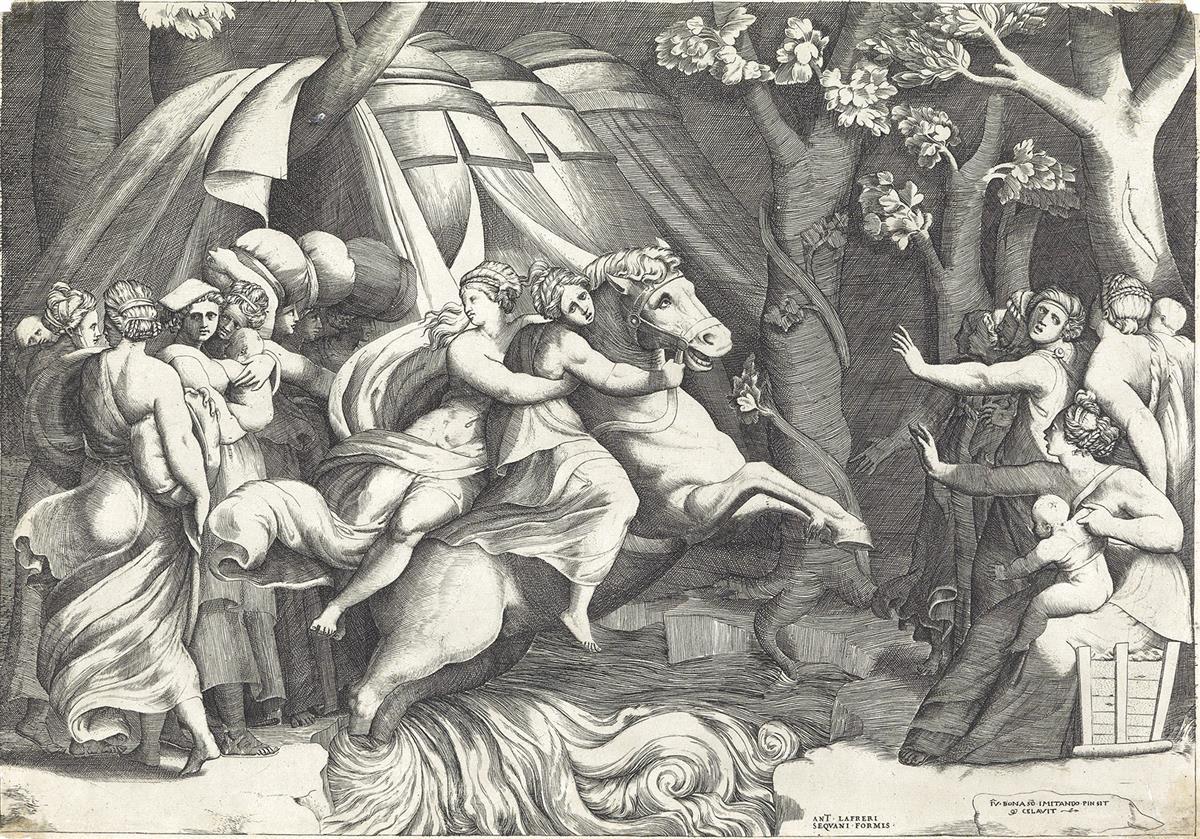 GIULIO-BONASONE-(after-Polidoro-da-Caravaggio)-Cloelia-Cross