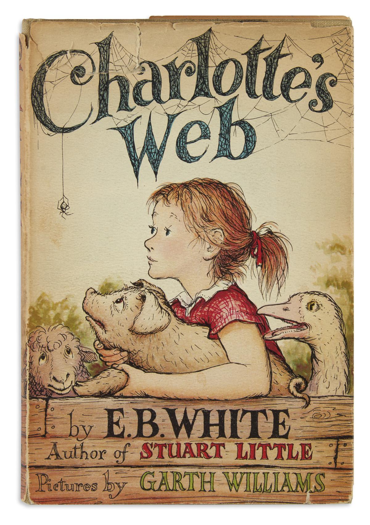(CHILDRENS-LITERATURE)-WHITE-EB-Charlottes-Web