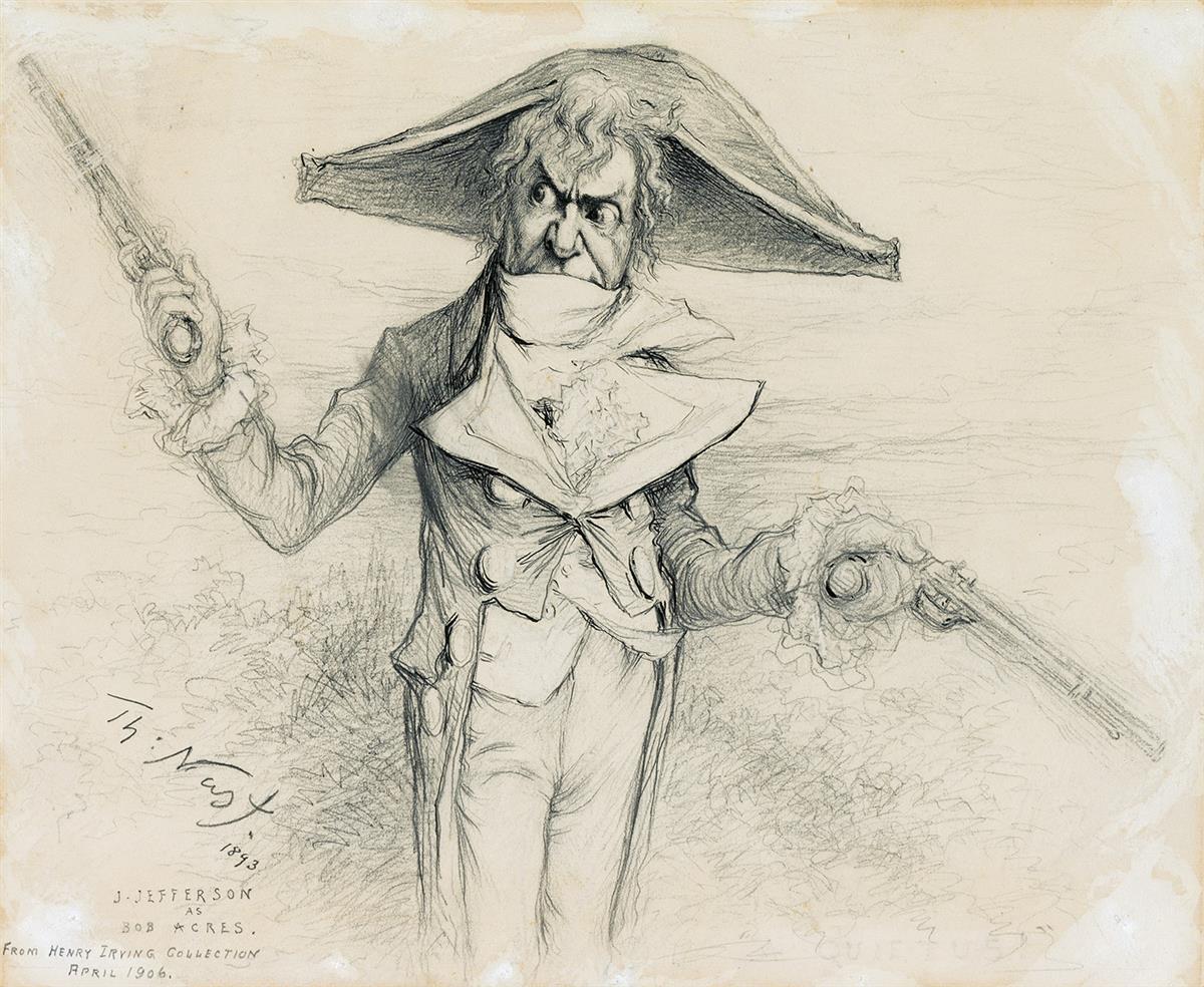 THEATER-THOMAS-NAST-Joseph-Jefferson-as-Bob-Acres-in-The-Rivals