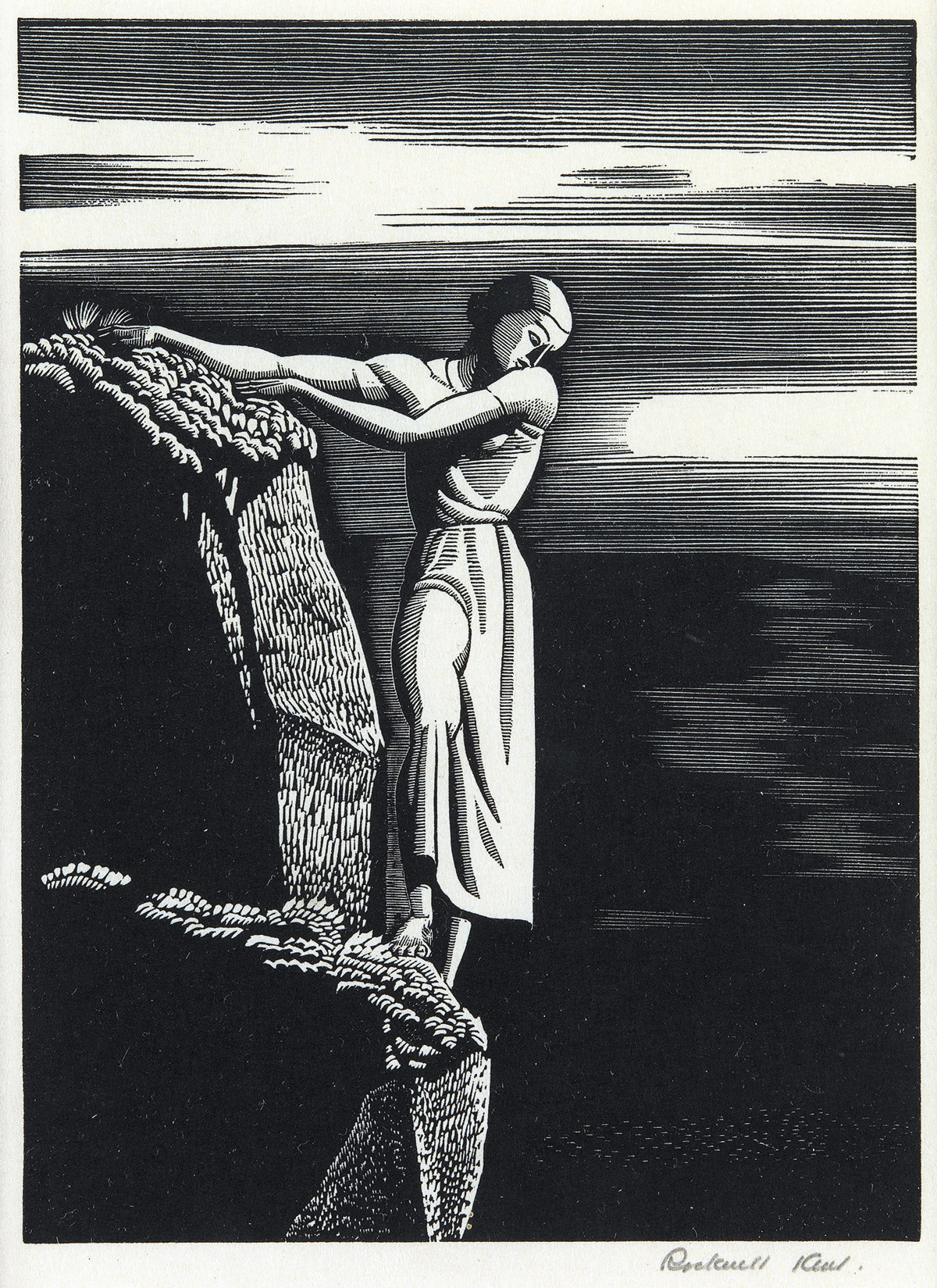ROCKWELL-KENT-Girl-on-a-Cliff
