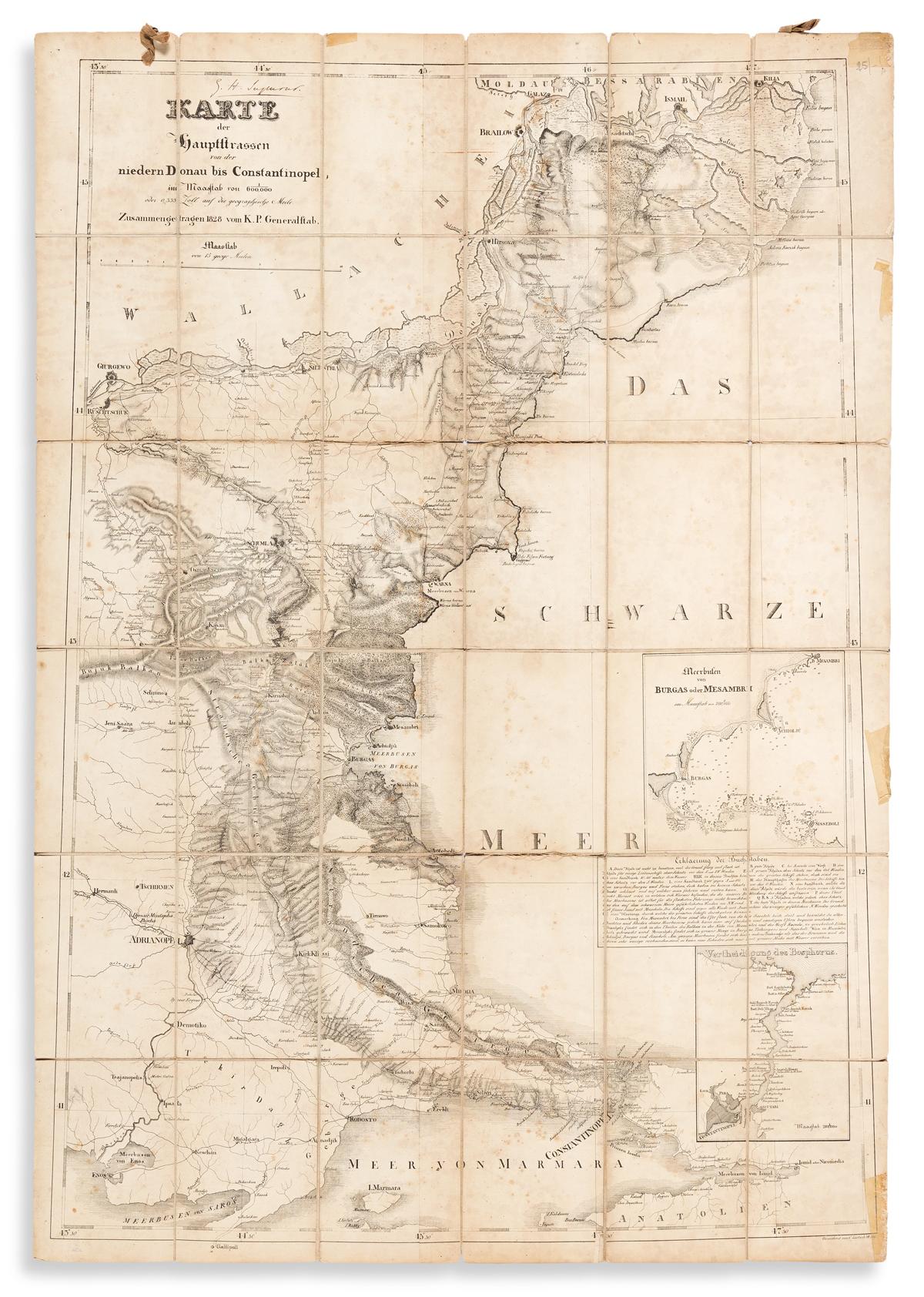 (BLACK SEA.) C. Zirbeck, for the Prussian General Staff. Karte der Hauptstrassen von der Niedern Donau bis Contantinopel.