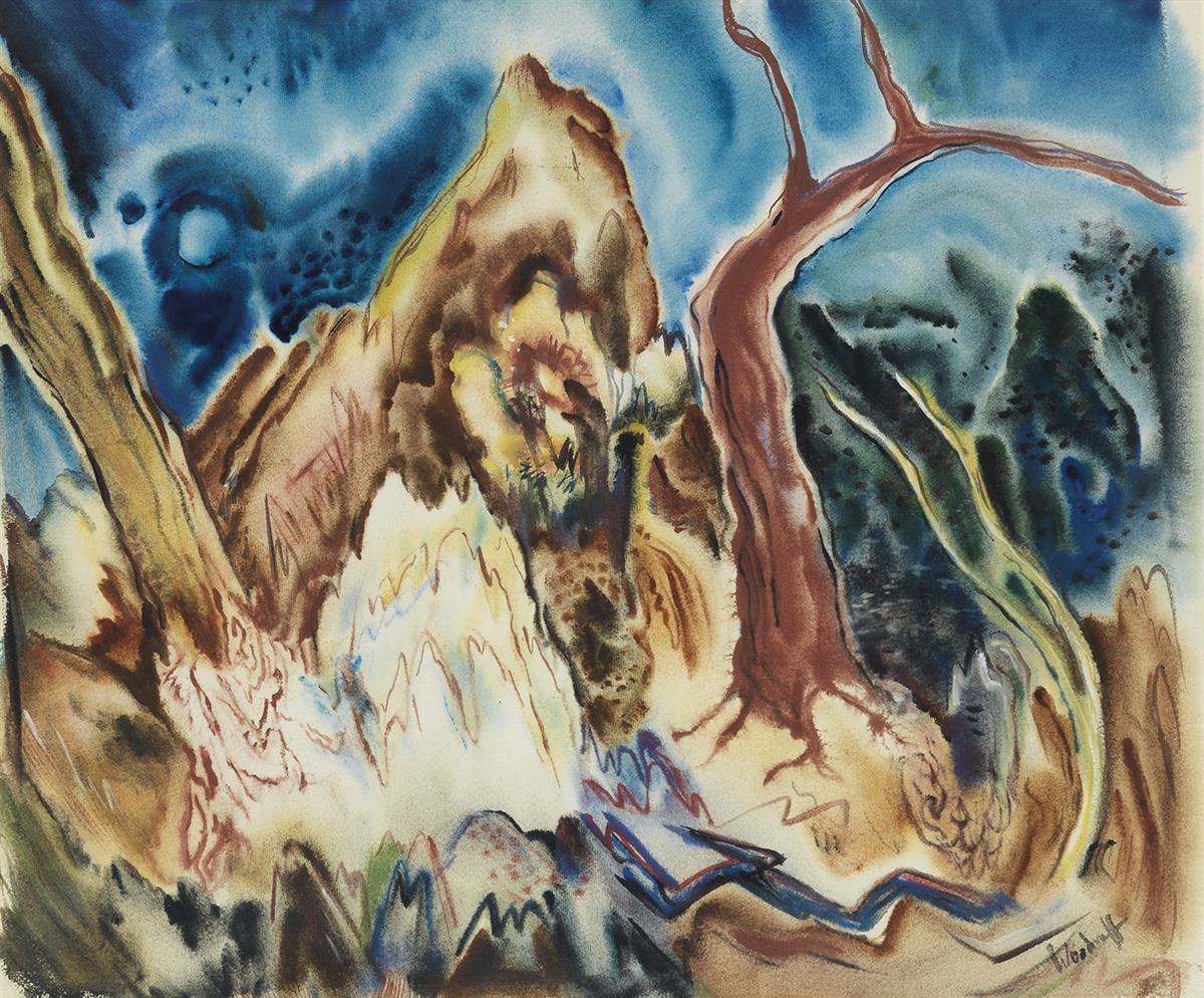 HALE-WOODRUFF-(1900---1980)-Untitled-(Georgian-Landscape)