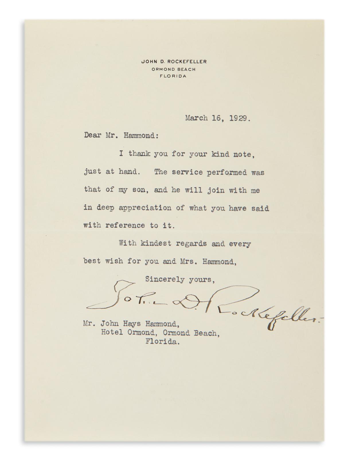 ROCKEFELLER-JOHN-D-Typed-Letter-Signed-to-John-Hays-Hammond