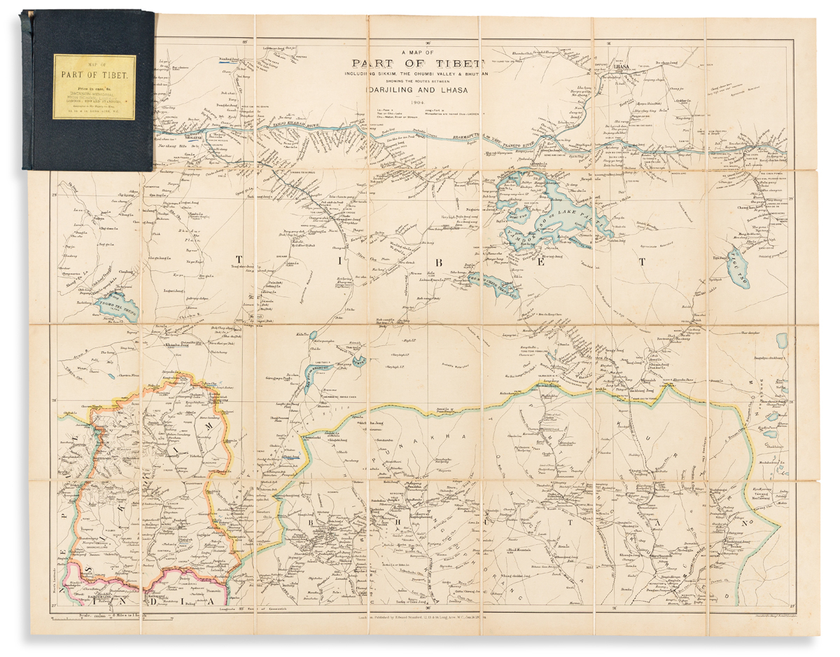 (HIMALAYAS.) Edward Stanford. A Map of Part of Tibet Including Sikkim, the Chumbi Valley & Bhutan