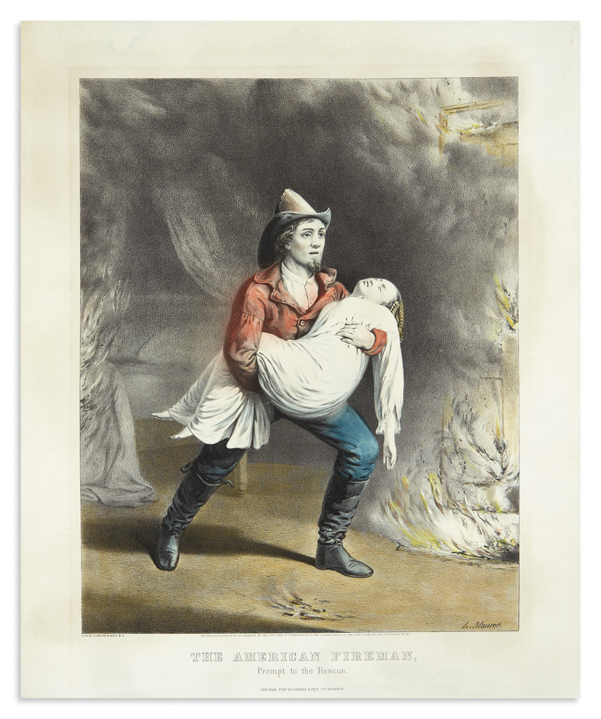 CURRIER--IVES-The-American-Fireman-Prompt-to-the-Rescue