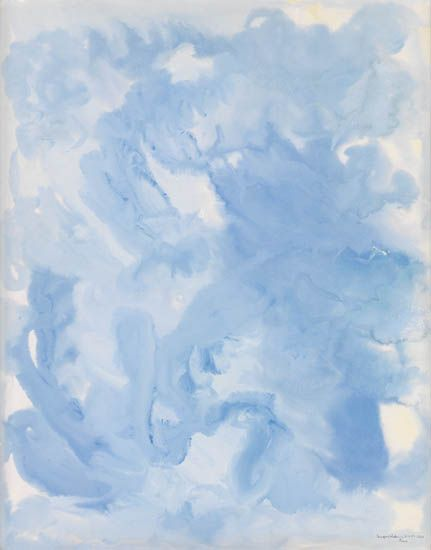 BEAUFORD DELANEY (1901- 1979) Untitled (Composition in Blue).