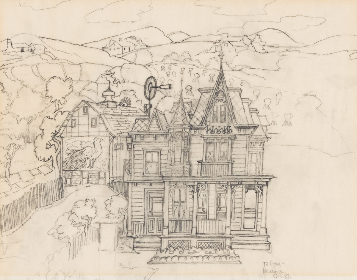 MAURICE SENDAK (1928-2012) Dorothys house. [CHILDRENS / WIZARD OF OZ / DISNEY]