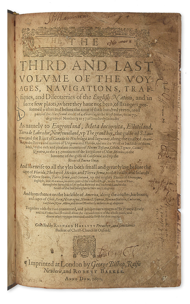 HAKLUYT, RICHARD. The Principal Navigations, Voyages, Traffiques and Discoveries of the English Nation.