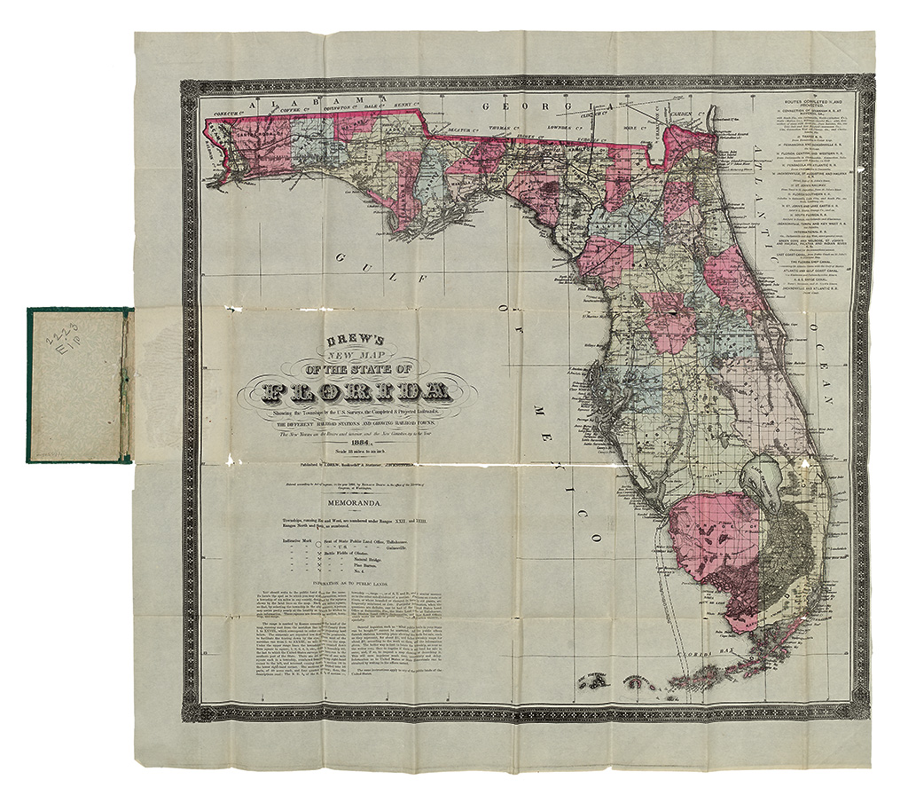 (FLORIDA.) Horace, Drew. Drews New Map of the State of Florida.